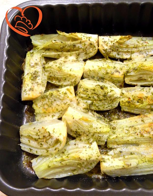 Finocchi gratinati con parmigiano ed erbe