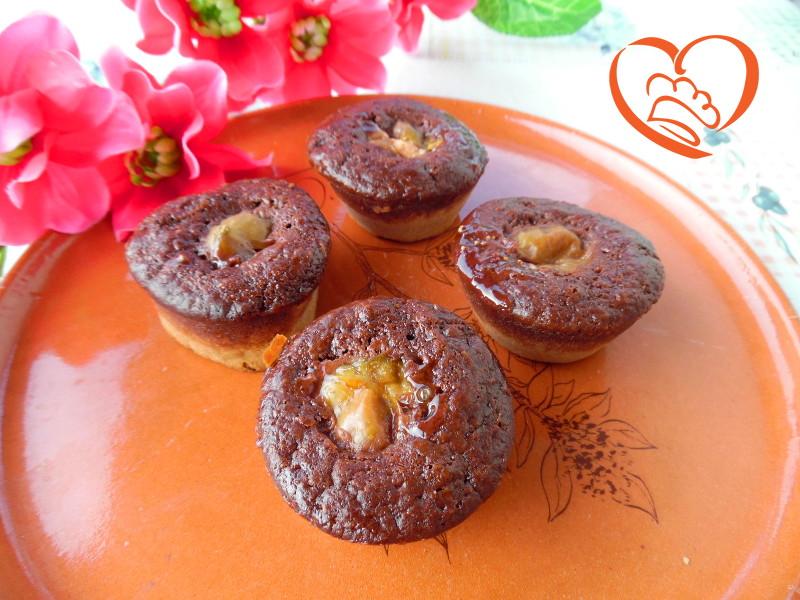 Muffins bicolore con fichi