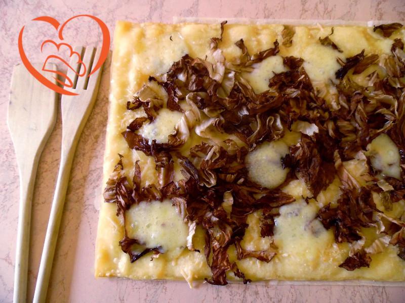 Pizza radicchio e Monte veronese