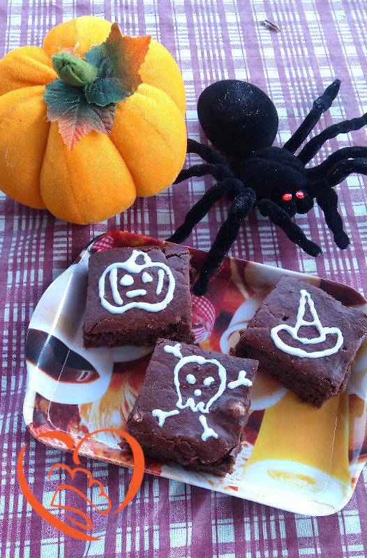 Brownies con uvetta di halloween