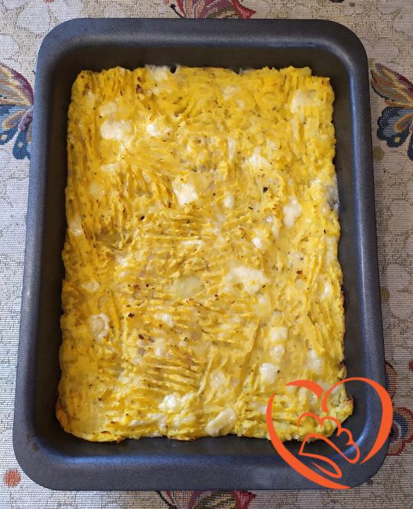 Sformato di patate con Montasio e gorgonzola
